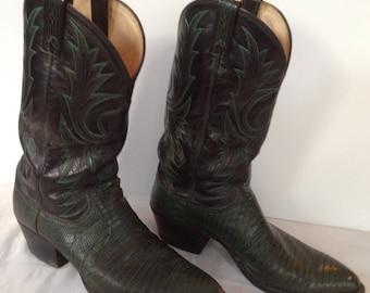 Dan Post Dark Green Cowboy Boots size 10 D