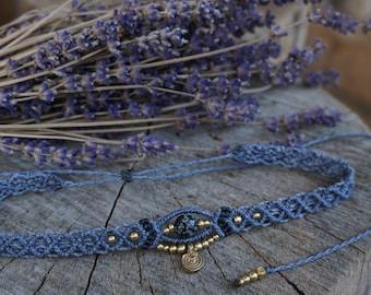 Macrame Choker chain in Lavender