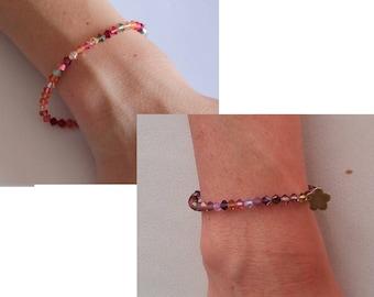 Swarovski crystal pearl bracelet - Several colors