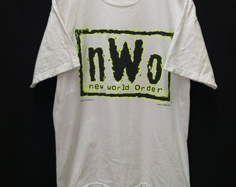 Vintage NWO New World Order//WCW Inc.//Size L//Made In USA