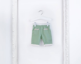 Linen Baby Trousers Organic Cotton Lining