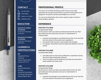 Medical resume template CV template medical cv Doctor cv Doctor resume medical Resume doctor Nurse template Nurse resume CNA RN resume Tara