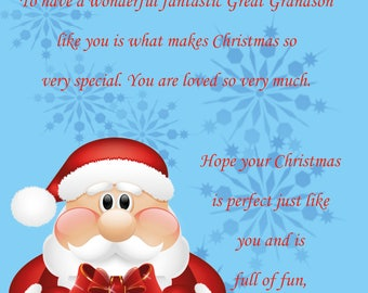 Great Grandson Christmas Card 2