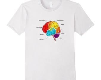 Brain Tee - Anatomy Top - Anatomy Tee Shirt - Human Anatomy Shirt - Brain Shirt - Brain Anatomy Motor Cortex