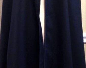 Venetian Nobleman Wool Cloak Half Circle Black