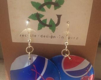 Cherry Pepsi Aluminum Can Earrings