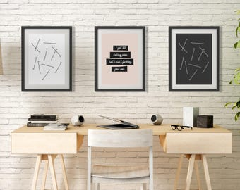 Beauty BOBBY PINS Trio Print  Wall Art Prints Photography Prints Home Decor Prints