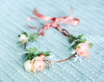newborn crown/ baby crown/ newborn flower crown