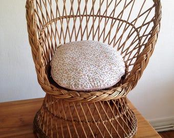 Chair for children - Wicker rattan - vintage