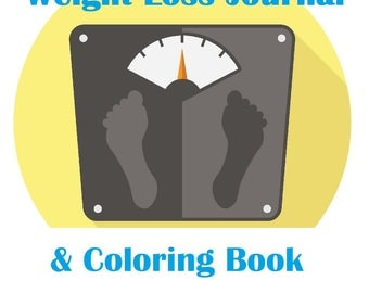 2018 Weight Loss Journal & Coloring Book Digital Download