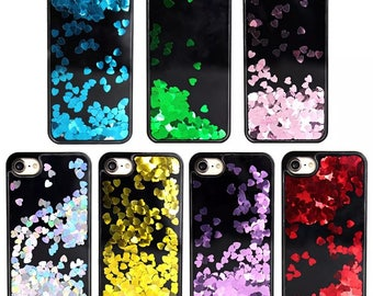 Liquid Glitter Floating Hearts Bling Sparkle Latest Design Case Cover For iPhone 6 6s 7