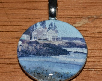Necklace Pendant of Mother's Beach in Kennebunk Maine