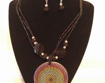 Mutli-Color & Black 2 Pc. Costume Jewelry Set