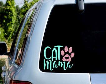 Cat Mama Decal