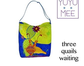 3 QUAILS WAITING Day Bag