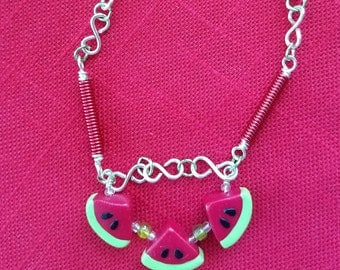 SUMMER Picnic : Watermelon Necklace