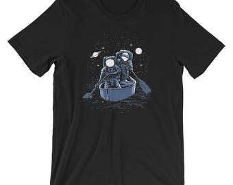 Across the Galaxy Rowing Astronauts Short-Sleeve Unisex T-Shirt