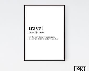 Travel definition | Etsy