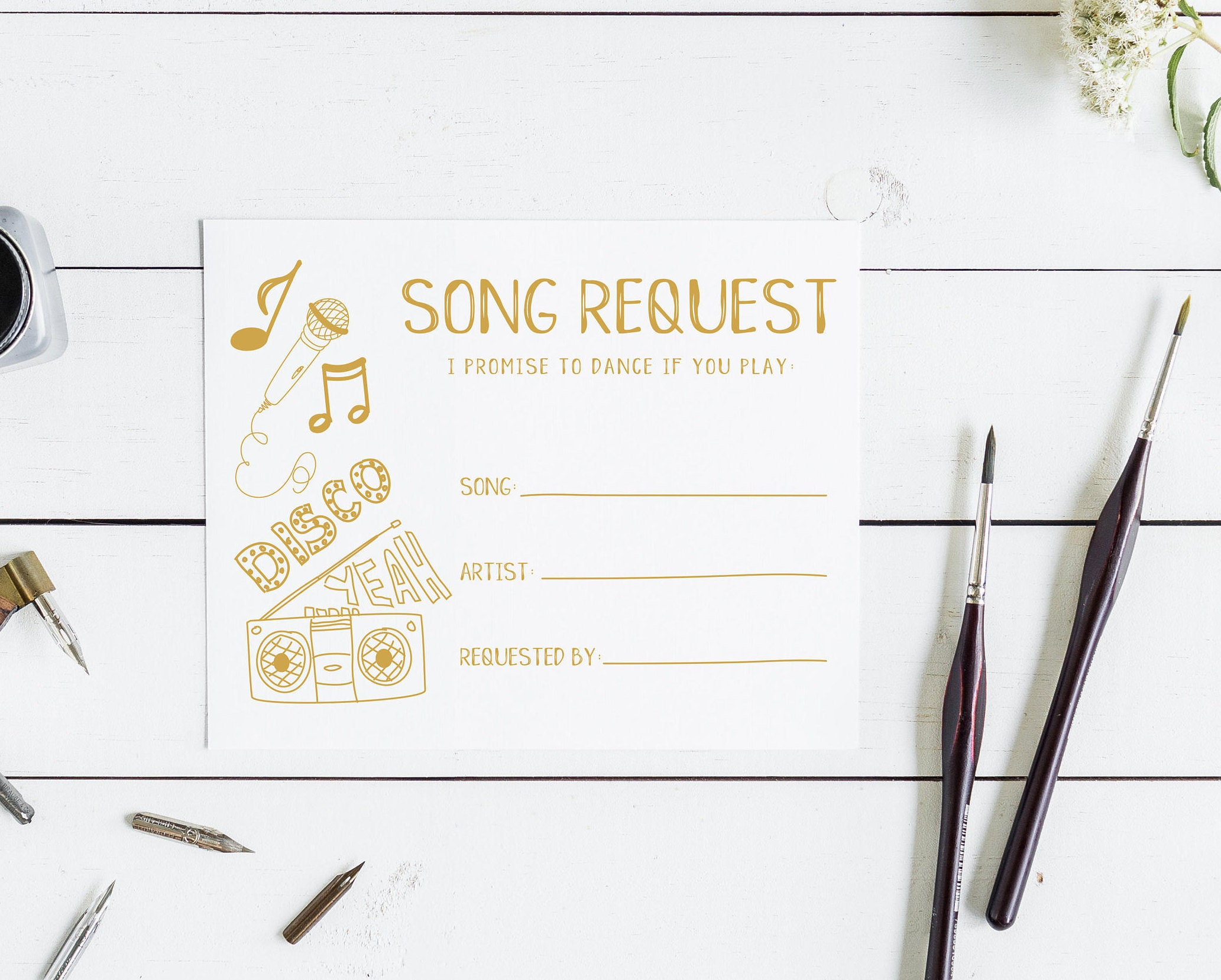 Wedding Song Request Card I Promise To Dance If You Play This