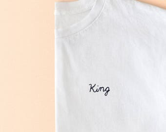 King embroidered unisex t-shirt | By Santé