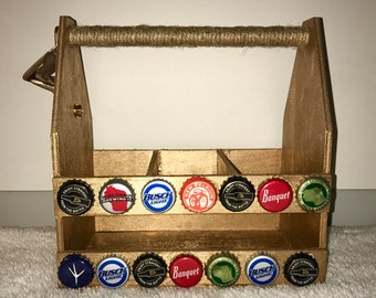Wooden Beer Carrier/ Caddy - Father's Day gift