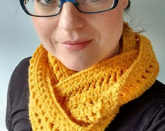 Stars Infinity Scarf Crochet Pattern