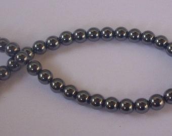 100 Pearl hematites 4 mm
