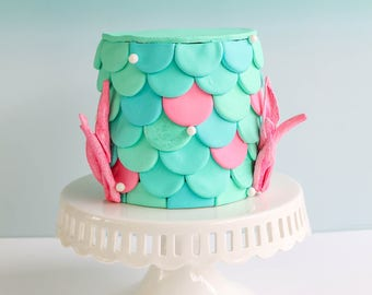 Mermaid Scales Cake- Fake cake, prop cake, party decor