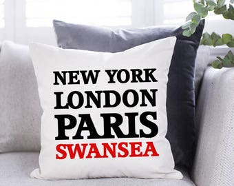 Personalised New York, London, Paris Cushion - Any City/Town/Village/Place - Location Cushion - Personalised Cushion - Gift