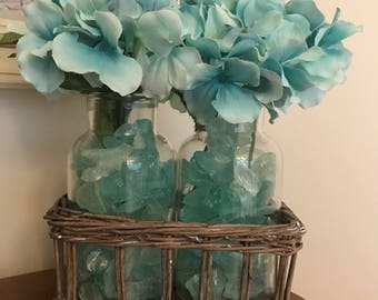 Blue Crystal Floral Display