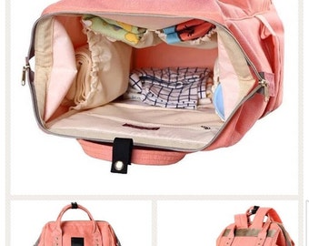 Personalized  FASHION DIAPER BAG, Baby Travel Backpack