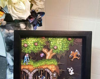 Ghouls & Ghosts 3D Shadow Box Diorama (8x8)