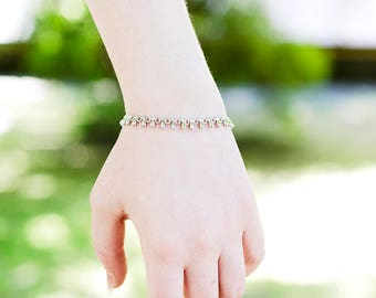Birthday Gift|for|Woman Gifts Gold Chain Bracelet 18 k Gold Plated Bracelet Woman Bracelet Drop Chain Bracelet White Gold Bracelet|for|Woman