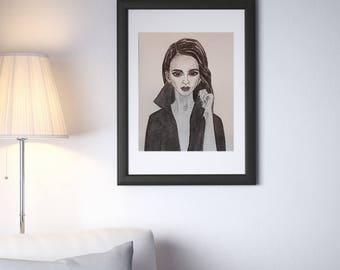 MENA  Art Print (200gsm, watercolor paper)