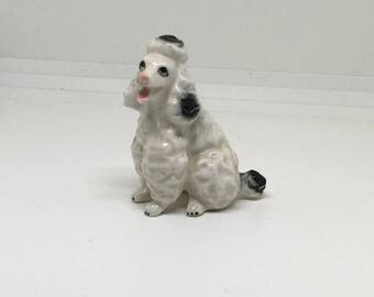 Cute Dog Porcelain Figurine