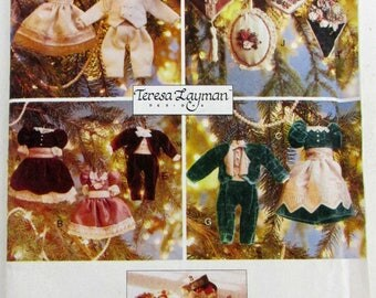 Vogue Craft Pattern 9529 Teresa Layman Designs Victorian Christmas Ornaments filled with Potpourri