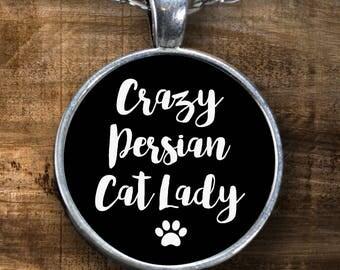 Persian Cat Lover - Persian Cat Gift - Crazy Cat Lady - Persian Cat - Persian Cat Lover Gift - Gift for Persian Cat Lover - Cat Necklace