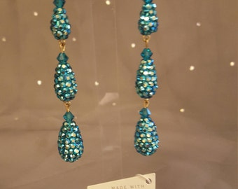 Swarovski Glamour earrings - Dita  1890 Jade