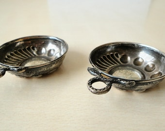 Vintage Sterling Silver 925 Set of Two Bowls