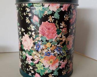 Vintage Flower Tin Floral