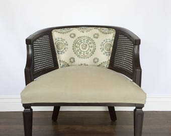 Mid-Century Barrel Back Cane Chair MCM & Handmade mcm barrel chairs | Etsy