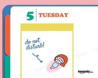 Do Not Disturb! Sticker Planner Scrapbook Kawaii Hand Illustrated Down Sleep Rest Repose Nap Draw Rest Insomnia Relax Drawing Kiss Cut O-10