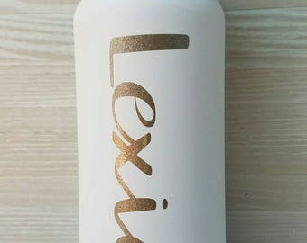 Name Decal Sticker for Yeti, Hydroflask - Customizable!