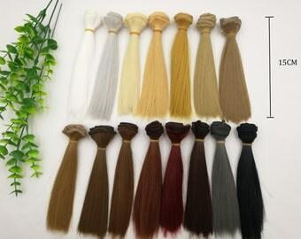 Doll Wig BJD Hair For 1/3 1/4 bjds/blythe/barbie 1pcs 15cmx1m BJD Wig Doll Hair