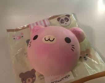 RARE -Puni Maru Cotton Candy Cat Bun Squishy