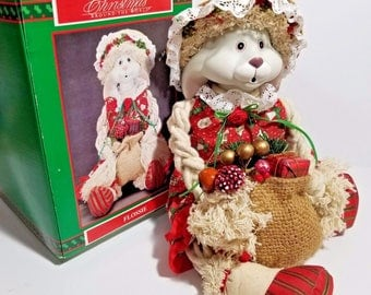 House Of Lloyd Flossie Porcelain Rag Doll Christmas Around The World