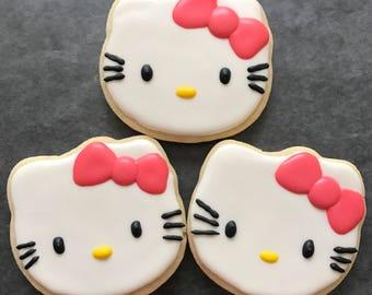 Hello Kitty Sugar Cookies (1 dozen)