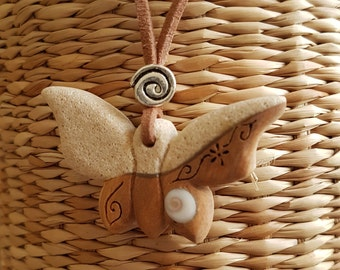 Butterfly fusion stone and wood