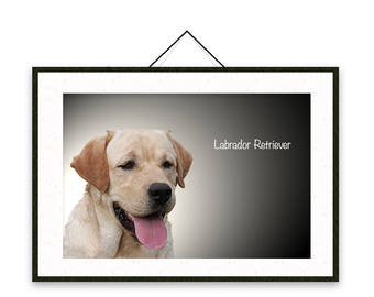Labrador Retriever - Dog breed poster, wall sticker, nursery decor, dog print, nursery print, shabby print | Tropparoba - 100% made in Italy