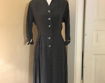 1940s Dress - WWII Era Dress